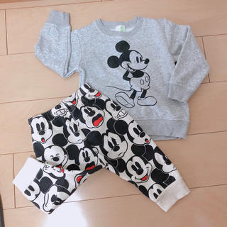 ディズニー(Disney)の本日限定❤️ ミッキー スウェット ズボン パジャマ セットアップ 上下セット(パンツ)