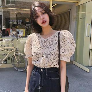 dholic - 当日発送可能❤韓国ファッションかぎ編みサマーニットトップス