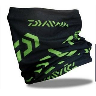 ダイワ ロゴ フェイスガード フェイスマスク ブラック グリーン 定形外発送全国(ウエア)