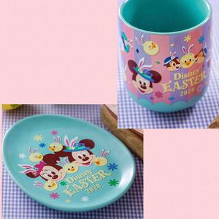 Disney - うさぴよ うさピヨ スーベニア プレート カップ ディズニーイースター