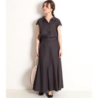 イエナスローブ(IENA SLOBE)の新品 slobe IENA リネン混襟付きブラウス×マーメイドフレアスカート(セット/コーデ)