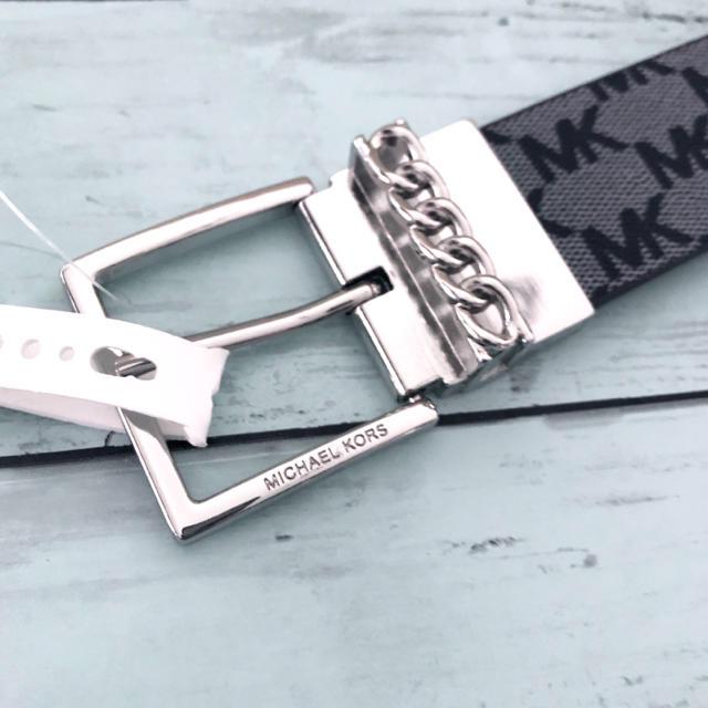 Michael Kors(マイケルコース)のリバーシブル プレゼント 新品 ブランド マイケルコース MK ロゴ ベルト メンズのファッション小物(ベルト)の商品写真
