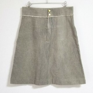 Drawer - DRAWER ドゥロワー スカート 膝丈 36 綿 絹