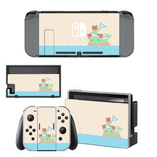 Switch スイッチ スキンシール どうぶつのもり(家庭用ゲーム機本体)