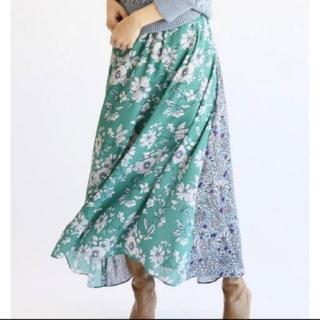 IENA - イエナ♡Deveaux フラワープリントスカート 38