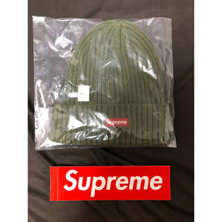 Supreme - 稀少 Supreme Overdyed Ribbed Beanie Olive