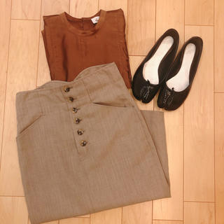 BEAUTY&YOUTH UNITED ARROWS - <6(ROKU)>FRONT BUTTON TIGHT SKIRT