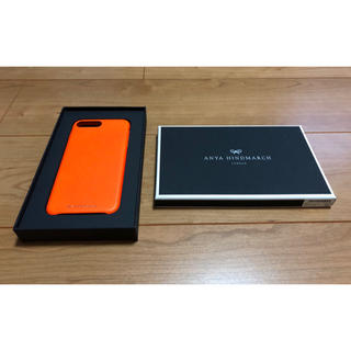 アニヤハインドマーチ(ANYA HINDMARCH)のアニヤハインドマーチ スマホケース iPhoneSE2/7/8 オレンジ(その他)