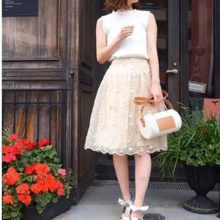 MERCURYDUO - 新品未使用 マーキュリーデュオ 単色ローズ刺繍オーガンジースカート