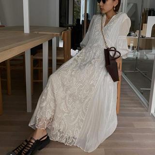 Ameri VINTAGE - 【新品】MEDI EMBROYDERY TULLE DRESS