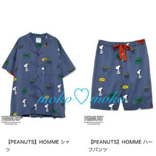 gelato pique - ジェラートピケ♡【PEANUTS】HOMME シャツ&HOMME ハーフパンツ