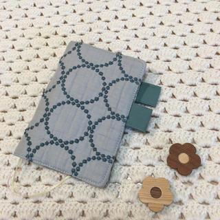ミナペルホネン(mina perhonen)のほぼ日手帳カバー オリジナル A6 サイズ手帳カバータンバリン ブルーグレー(ブックカバー)