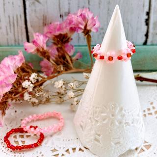 咲き始めのリング(ピンク)(リング)