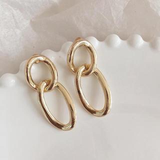 Adam et Rope' - double rings pierce GOLD