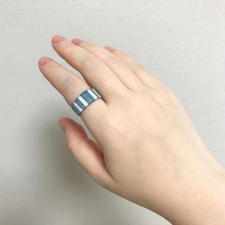 刺繍糸のしましま指輪(リング)