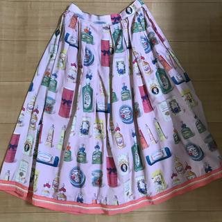 ジェーンマープル(JaneMarple)のジェーンマープル 香水瓶 スカート ピンク(ひざ丈スカート)