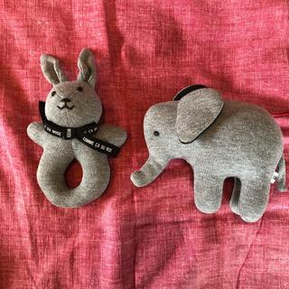 コムサデモード(COMME CA DU MODE)のガラガラ 赤ちゃん おもちゃ コムサデモード ぬいぐるみ(がらがら/ラトル)