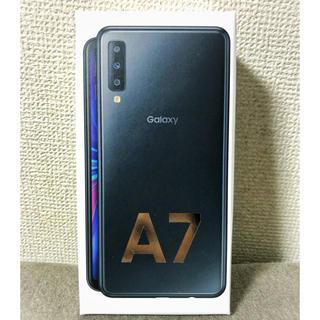 サムスン(SAMSUNG)の【新品未開封】Galaxy A7 ブラック SIMフリー 一括購入(スマートフォン本体)