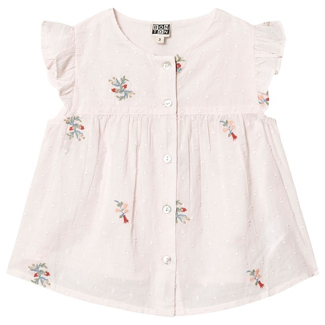 Caramel baby&child (キャラメルベビー&チャイルド)の新品✦1点のみ BONTON 刺繍ブラウス(4Y) キッズ/ベビー/マタニティのキッズ服女の子用(90cm~)(ブラウス)の商品写真