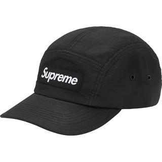 シュプリーム(Supreme)のSupreme Barbour Waxed Cotton Camp Cap 黒(キャップ)