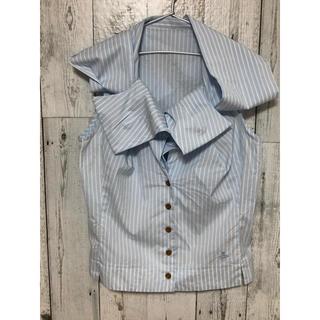 ヴィヴィアンウエストウッド(Vivienne Westwood)のヴィヴィアンウエストウッド 変形シャツ ボウタイシャツ(シャツ/ブラウス(半袖/袖なし))