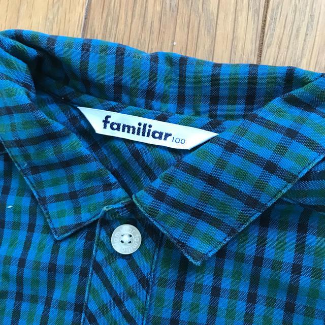 familiar(ファミリア)のファミリア チェックシャツ 100  キッズ/ベビー/マタニティのキッズ服男の子用(90cm~)(Tシャツ/カットソー)の商品写真