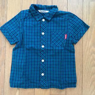 familiar - ファミリア チェックシャツ 100