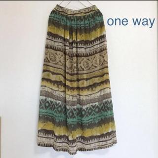 one*way - one way 【ロングスカート】エスニック アジアン 丈90㎝ ワン ウェイ