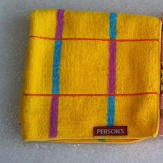 パーソンズ(PERSON'S)のPERSON'S タオルハンカチ【新品未使用】(ハンカチ)