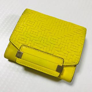 サザビー(SAZABY)のSAZABY LGX-03 二つ折り 財布 イエロー(財布)