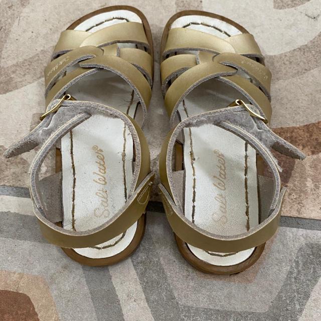 Bonpoint(ボンポワン)のソルトウォーター サンダル 10 キッズ/ベビー/マタニティのキッズ靴/シューズ(15cm~)(サンダル)の商品写真