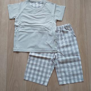ムジルシリョウヒン(MUJI (無印良品))の【お値下げ】無印良品 涼感半袖パジャマ 90-100(パジャマ)