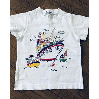 ファミリア(familiar)のファミちゃん おはなしTシャツ サイズ100(Tシャツ/カットソー)