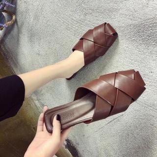 ローリーズファーム(LOWRYS FARM)の韓国ファッション▼網 スリッポン バブーシュ(スリッポン/モカシン)