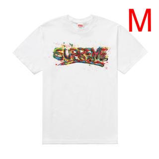 Supreme - supreme paint logo tee 白 Mサイズ