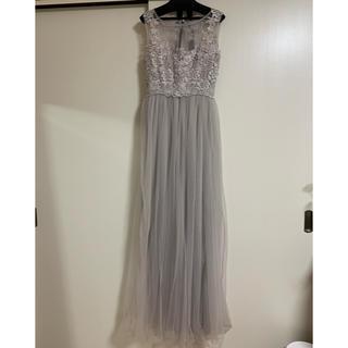 AngelR - クーポン値下げ!☆ロングドレス ライトグレー パーティードレス キャバ ドレス