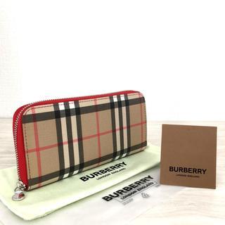 BURBERRY - 未使用品 バーバリー ラウンドファスナー長財布 タータンチェック 305