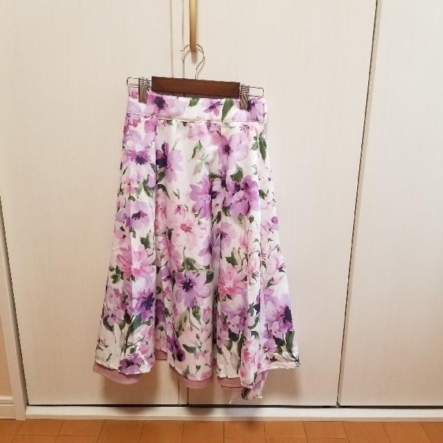 tocco(トッコ)の【新品】ベルト付き リバーシブルスカート トッコクローゼット レディースのスカート(ひざ丈スカート)の商品写真