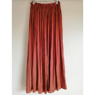 UNITED ARROWS - ユナイテッドアローズ プリーツマキシスカート サテンロングスカート