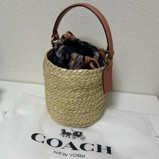 コーチ(COACH)の【未使用】コーチ カゴバック(かごバッグ/ストローバッグ)