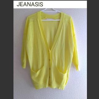 JEANASIS - JEANASIS 夏の七分袖 薄手カーディガン