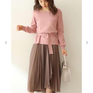 PROPORTION BODY DRESSING - ウエストベルト付きニット ピンク