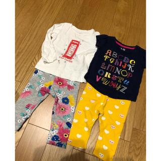 ベビーギャップ(babyGAP)のトップス2点+スパッツ2点セット(Tシャツ/カットソー)