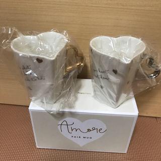フランフラン(Francfranc)のFrancfranc ハート型 マグカップ(グラス/カップ)