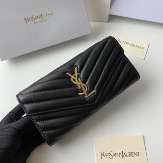 Yves Saint Laurent Beaute - お勧めYves Saint laurent 折り 長財布 開閉式 本革 美品