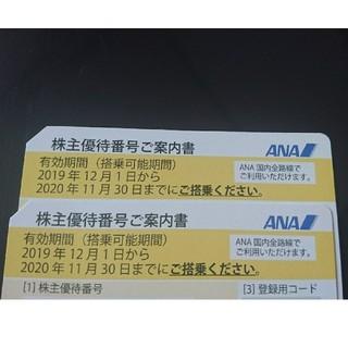 ANA(全日本空輸) - ana 株主優待券 2枚 全日空