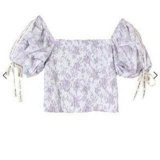 eimy istoire - amanda flower eimy ribbonシャーリングトップス