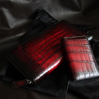 【画像追加】クロコダイル パティーヌ ラウンドジップウォレット カードケース (長財布)