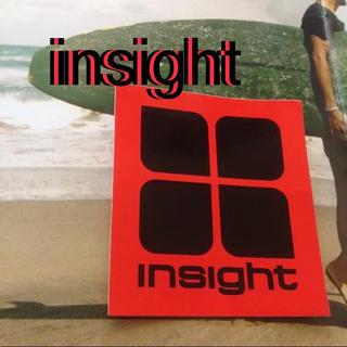 インサイト(INSIGHT)のinsightインサイトUS限定ファッションロゴアイコン ステッカーred(サーフィン)