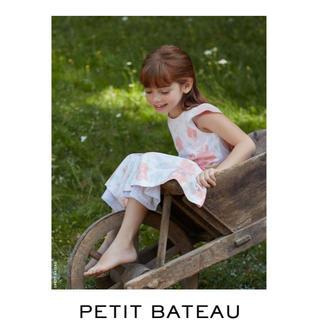 プチバトー(PETIT BATEAU)の新品未使用 タグ付き プチバトー プリントノースリーブワンピース(ワンピース)